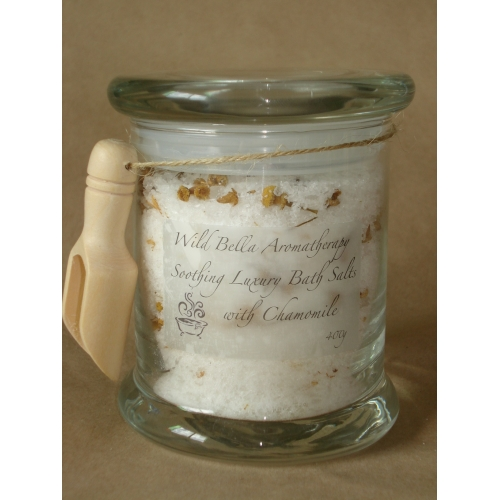 Soothing Luxury Bath Salts With Chamomile Glass Jar